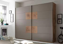 Schwebetürenschrank Capri Kleiderschrank Schrank Schlafzimmer Grau