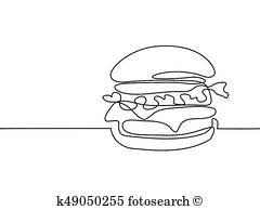 Hamburger Bevanda E Patatine Fritte Clipart K5132281 Fotosearch