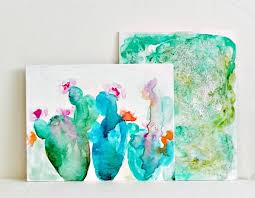 watercolor on canvas