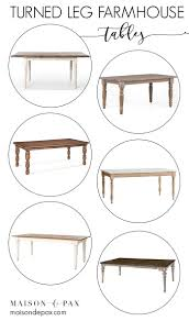 turned leg dining table. Looking For A Turned Leg Farmhouse Table? Whether Your Style Is Traditional, Rustic, Dining Table