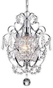 amorette 1 light chrome glam lighting