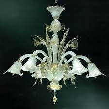 murano glass chandelier six arm gold trim glass flower chandelier vintage murano glass chandelier for murano glass chandelier