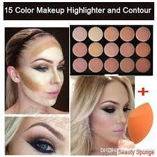 whole pro cream makeup face contour kit highlight concealer palette bronzer with gift blender sponge beauty cosmetic set palette palette 88