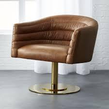cupa saddle leather swivel base chair
