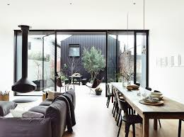Living Room Extension Decordots Terrace As An Extension Of Living Room Black Window Frames