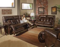 Remington 2 Piece Reclining Sofa Set in Espresso Fabric by