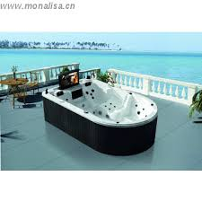 monalisa luxury outdoor spa portable bathtub with tv