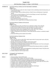 Sap Functional Consultant Sample Resume SAP Functional Consultant Resume Samples Velvet Jobs 1