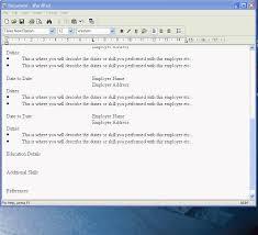 Create A Cv In Wordpad Youtube