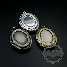 5pcs 13x18mm bezel antiqued silver