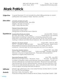 Film Resume Example Resume Template New Resume Examples Examples