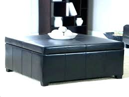 black coffee table with storage ottoman modern ottomans tables high gloss 85cm