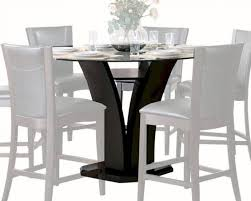 homelegance 710 36rd daisy wood round glass counter height dining set 7ps modern
