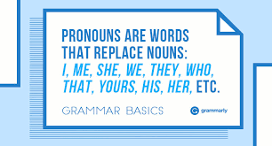 What Is A Pronoun Types Of Pronouns And Rules Grammarly