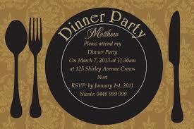 Fine Dining Postcard In Gold Invitation