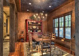 rustic dining room design ideas and photos. dinning rooms:rustic dining room with red vintage china cabinet also wood table and rustic design ideas photos