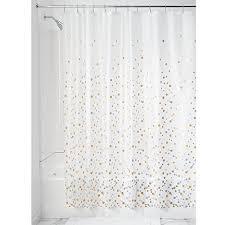 gold and silver shower curtain. interdesign confetti decorative peva 3g shower curtain liner - 72 x 72, silver/gold gold and silver d