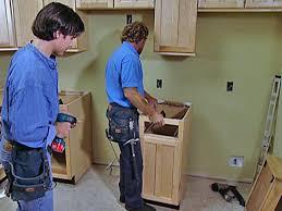 install narrow base cabinet