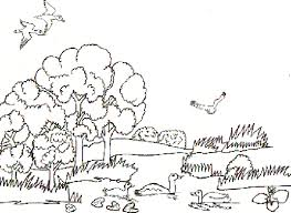 Small Picture Pond Scene Landscape Coloring Pages Gekimoe 86446