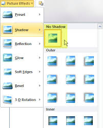 turn off a picture effect you don t want by choosing the no effect option