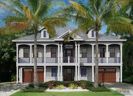 beach house plan west ins island cottage architectural style plans waterfront narrow lots