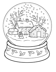 Small Picture Winter coloring pages snow globe ColoringStar
