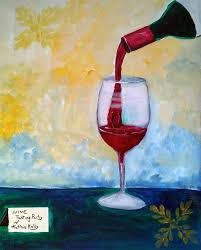 wine glass and pouring bottle 1