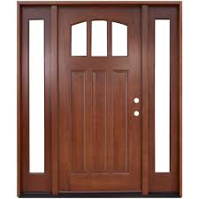 mission style front doorPacific Entries 70 in x 80 in 5Panel Stained Mahogany Wood