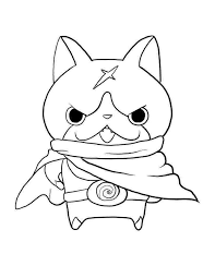 White, pink, black, blue, green, red. Yo Kai Watch Coloring Pages Free Printable Coloring Pages For Kids
