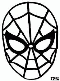 Masker Spider Man Spinneman Kleurplaat Birthday Boy Spiderman