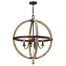 middlefield rustic design 4 light chandelier in iron rust distressed wood finish