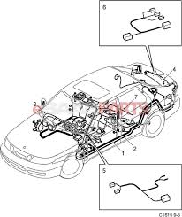 Esaabparts saab 9 5 9600 > electrical parts > wiring harness > rear