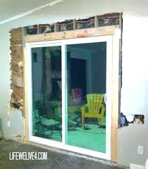 replace door with window medium image for replace sliding door how to install sliding glass patio replace door with window