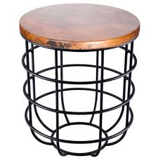 furniture copper coffee table luxury axel iron side table with inside round copper top