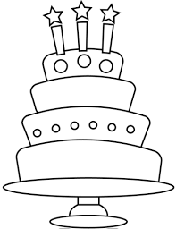 Birthday Cake With Three Candles Coloring Page Free Printable
