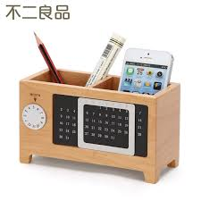 photo 3 of 10 wooden pen creative fashion office supplies stationery desk box wood cute ornaments office accessories pen holder