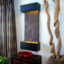 water wonders medium nojoqui falls lightweight slate fountain black onyx modern living room