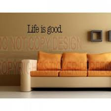 life is good wall decals es sayings art vinyl lettering home decor