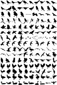 鳥シルエット素材 鳥類イラストのフリーダウンロード素材