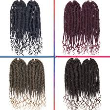 Details About Soft Faux Locs Curly Crochet Braids Goddess Hairstyle Synthetic Hair Extension J