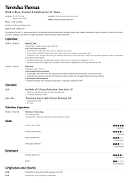 Chef Cv Template Chef Resume Sample Complete Guide 20 Examples