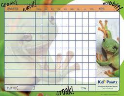 Frog Themed Behavior Chart Free Printable Behavior Chart Frogs Theme Kid Pointz