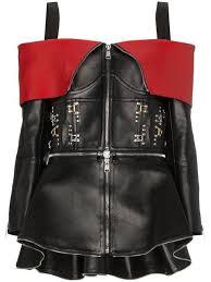 alexander mcqueen stud embellished off the shoulder leather jacket