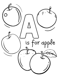 Small Picture Free A Is for Apple Coloring Page