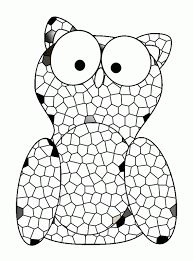 Owl Stained Glass Coloring Pages Free Printable Coloring Pages For