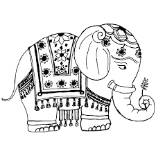 Printable Elephant Coloring Pages Free Printable Elephant Coloring