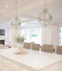 white kitchen marble kitchen restoration hardware coastal style open concept coastal