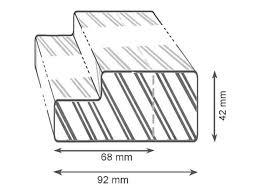 <b>коробка дверная JELD-WEN N601</b> М8, прозрачный лак, петли ...