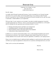 Best Personal Services Cover Letter Examples Livecareer Resume For