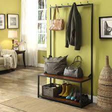 Dark Wood Coat Rack Dark Wood Coat Rack Racks Entryway Furniture The Home Depot Black 100 95